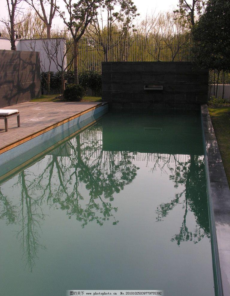 景观设计 别墅设计 水池 游泳池 水景 防腐木 植物 梁志天 庭院设计