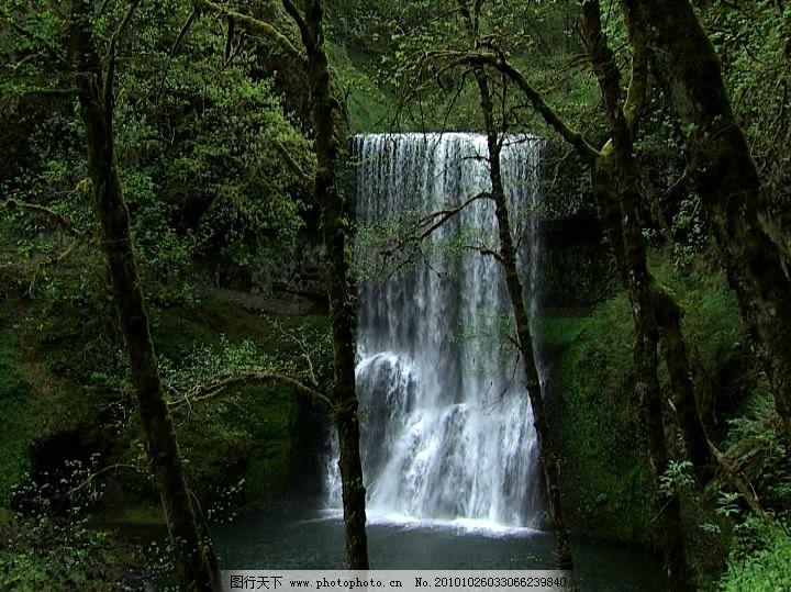 风景瀑布高清素材图片