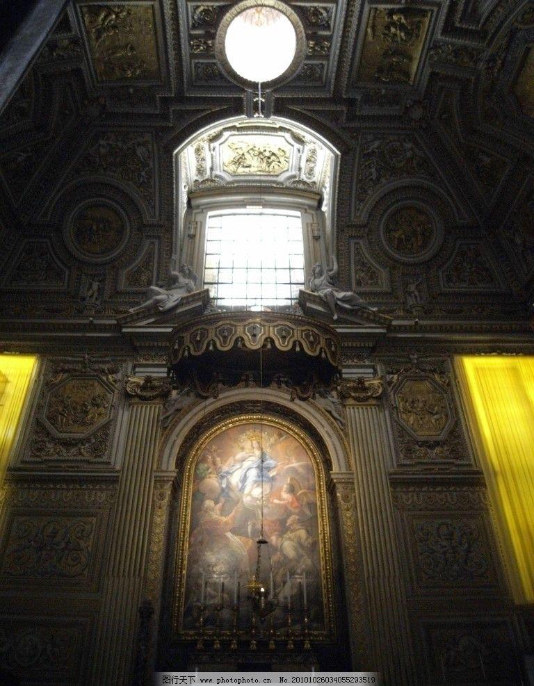 宫廷 宫殿 绘画 经典建筑 经典 欧式经典 天窗 入口 门庭 欧式入口