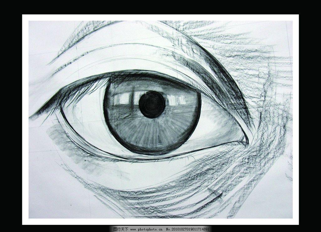 手绘创意 素描人物眼睛图片