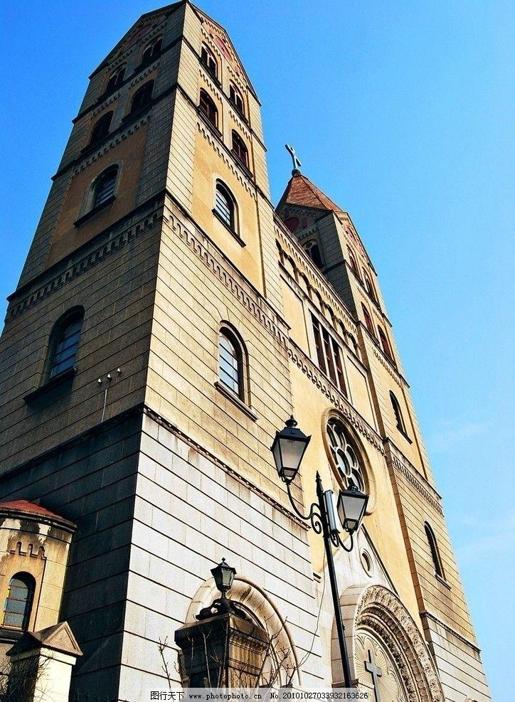 青岛 教堂 天主教堂 观光 旅游 青岛基督教堂 德国建筑 中山路建筑