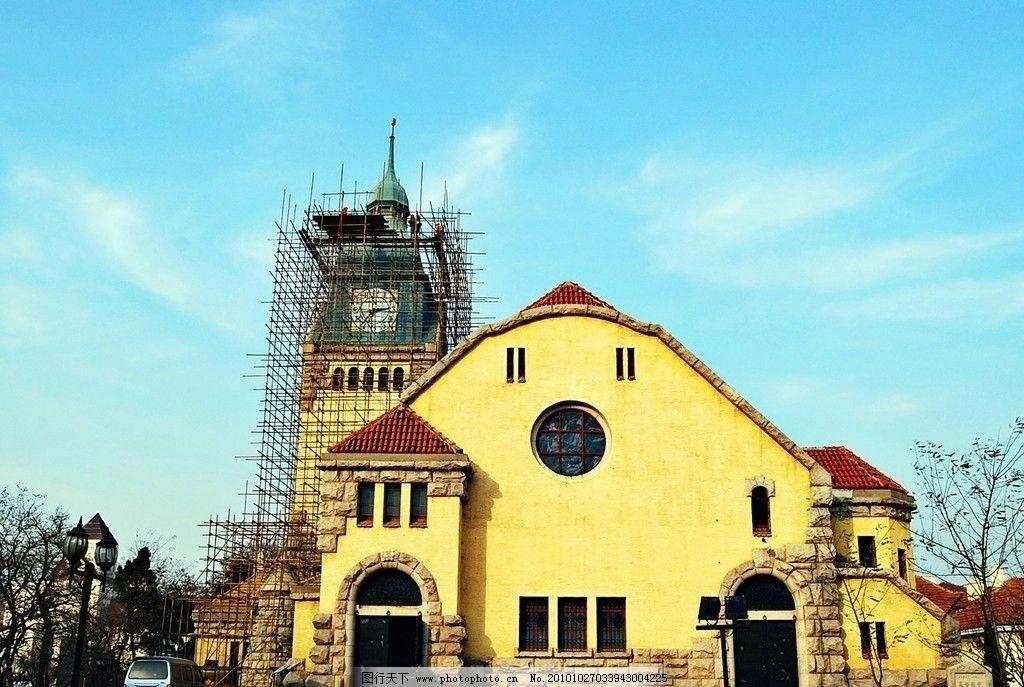 青岛 基督教堂 教堂 观光 旅游 青岛基督教堂 德国建筑 国内旅游 旅游