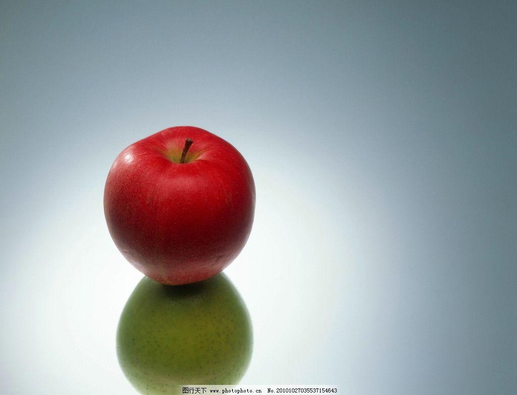 水果特写 红色 苹果 绿色 高清晰 蔬果天地 摄影