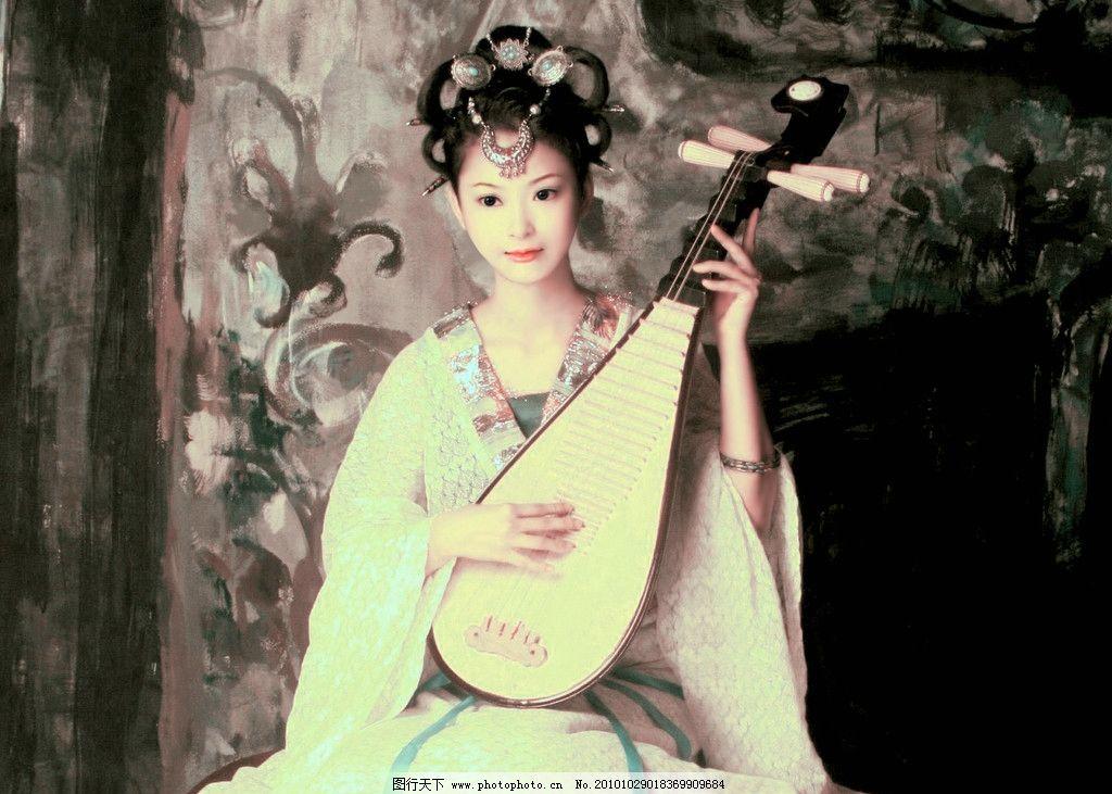 古典美女 仿手绘 乐器 琵琶 仿手绘古典美女 动漫人物 动漫动画 设计