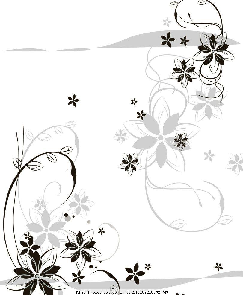 花影 移门 花藤 灰色 小花 抽象图 简约 移门图 背景底纹 底纹边框