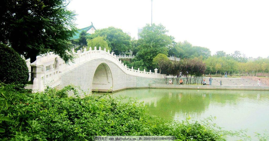 湖面 月湖桥 古琴台 名胜 绿树 垂钓者 武汉风光 风景 摄影 武汉 月湖