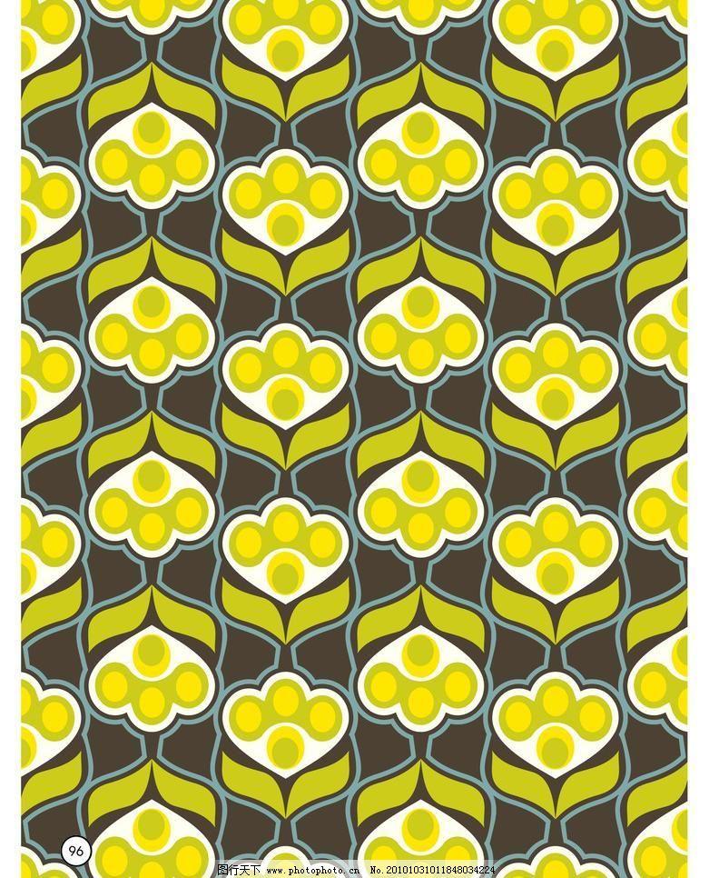 几何花矢量素材 几何花模板下载 几何花 花 圆 叶子 面料 墙纸 窗花