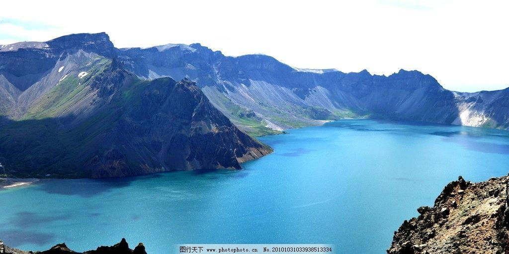天池 湖水 幽蓝 东北 长白山 山脉 碧蓝 自然 唯美 仙境 空灵 国内