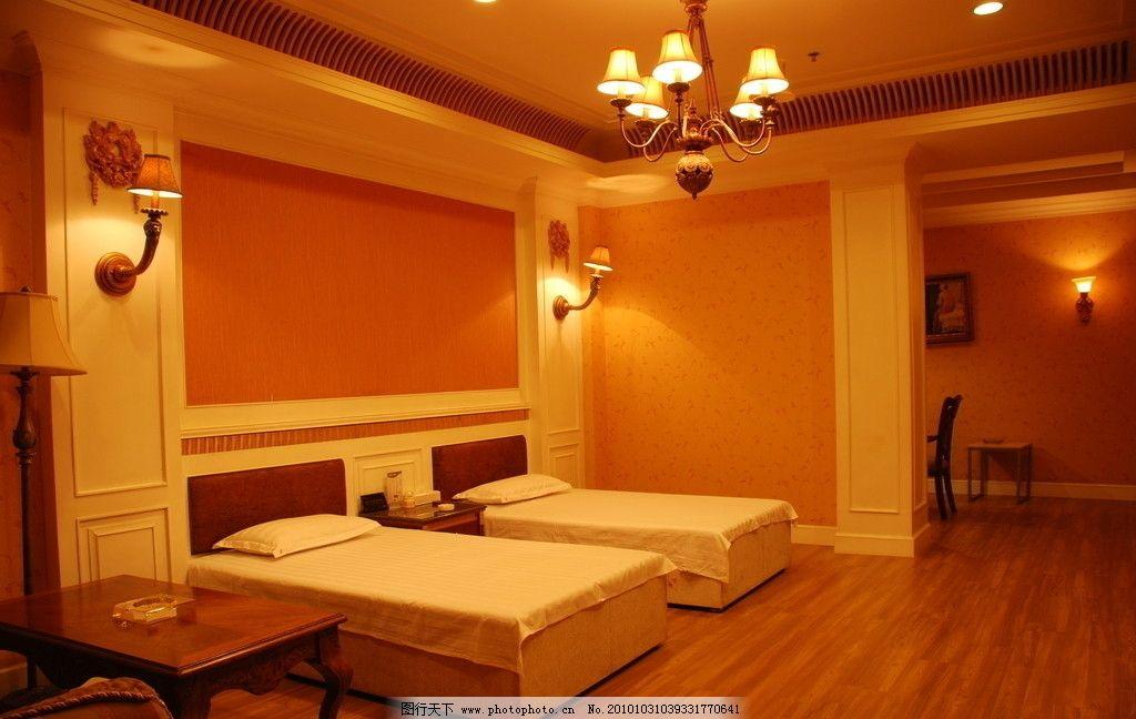 宾馆酒店房间 宾馆酒店标准间 宾馆客房 家庭宾馆 酒店室内装修素材 室内摄影 建筑园林 摄影 300DPI JPG