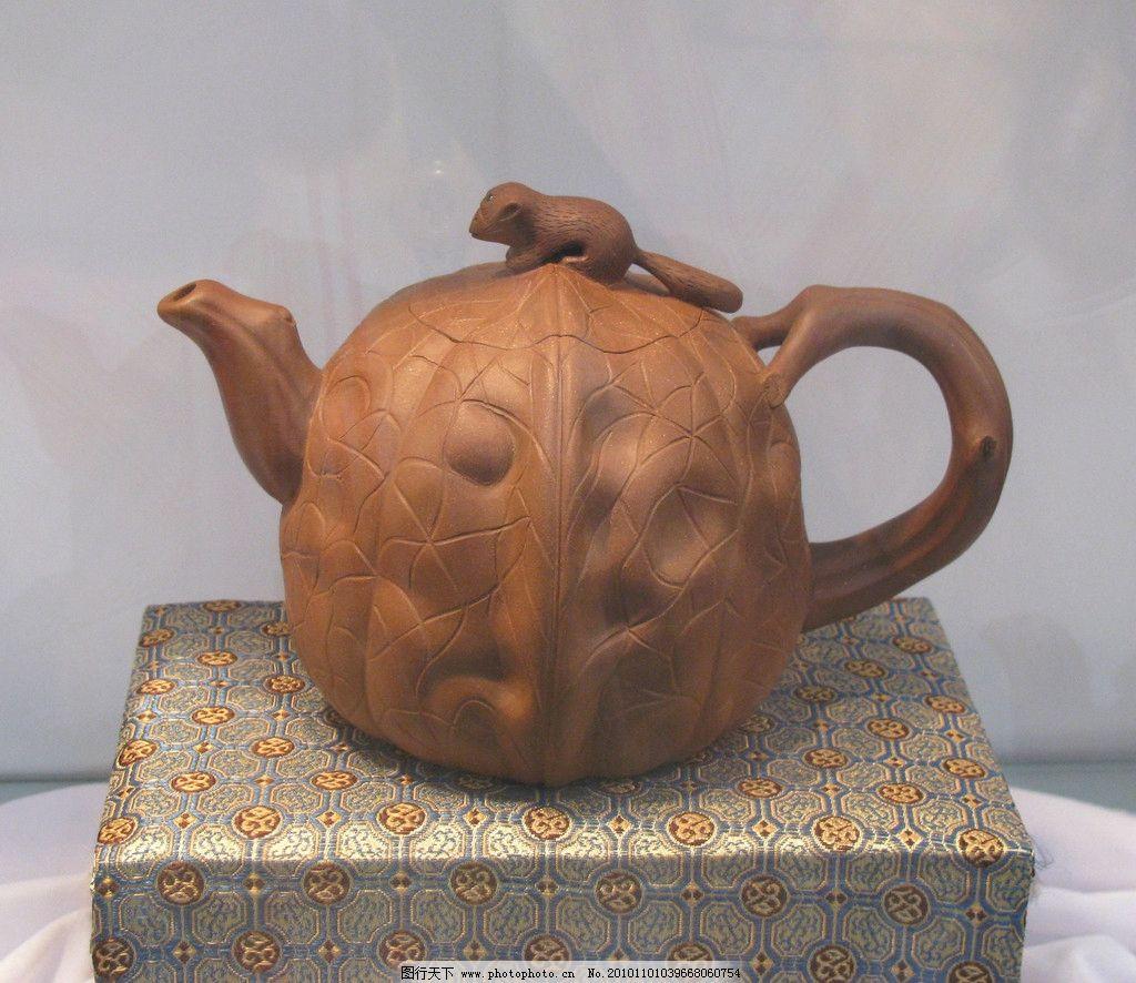 紫砂壶 紫砂陶 松鼠 核桃 陶艺 工艺美术 雕塑 建筑园林 摄影 180dpi