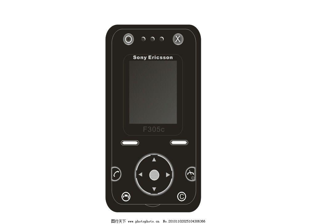 手机 黑色 sony 按键 电话 方向键 通讯科技 现代科技 矢量 cdr