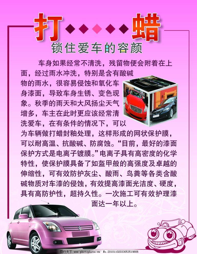 汽车美容装饰知识系列展板图片