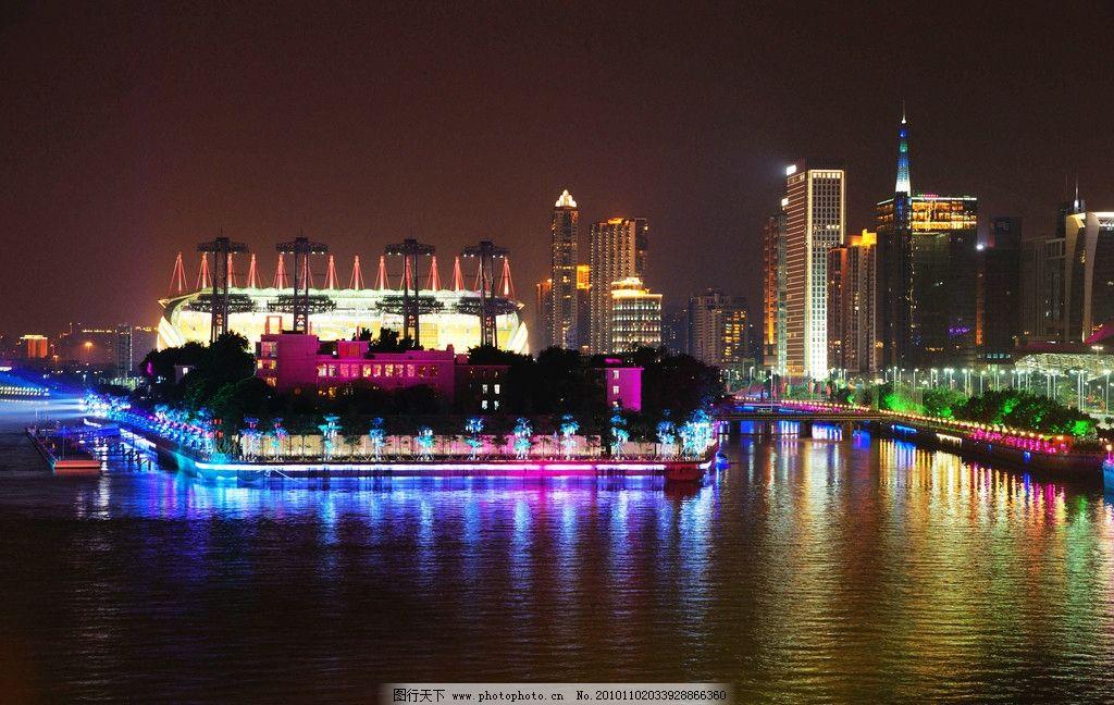 广州塔灯光高清图片