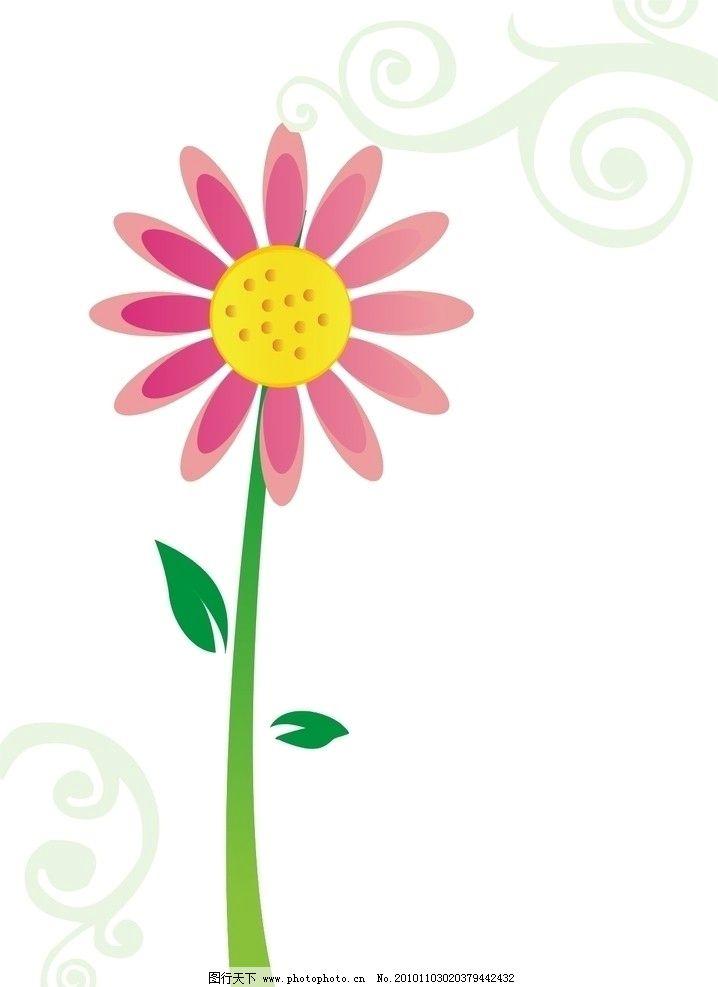 可爱花纹 花朵 展板花纹 花纹花边 底纹边框 矢量