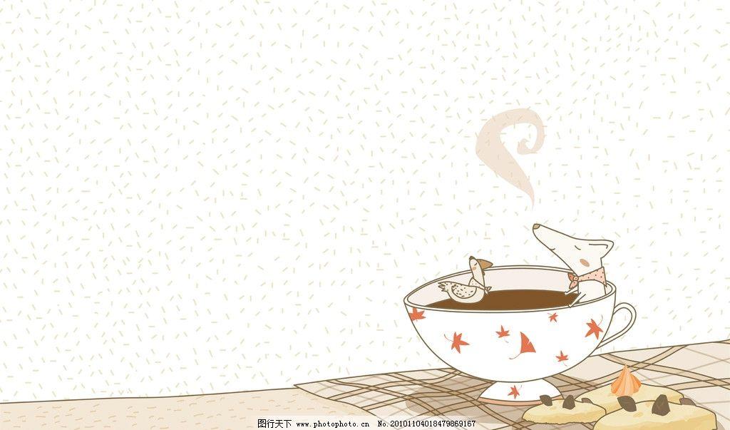 漫画 可爱 云朵 碗 动物 背影 动漫动画