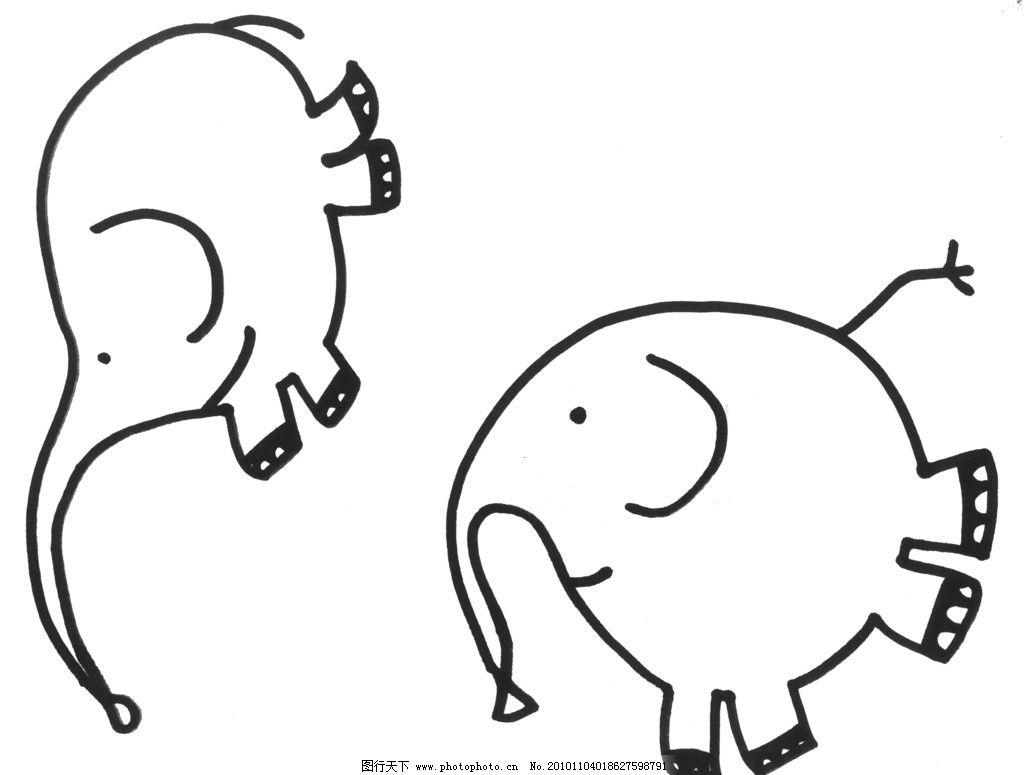 卡通大象 动画 卡通 大象 小象 卡通飞舞的小象 其他 动漫动画 设计