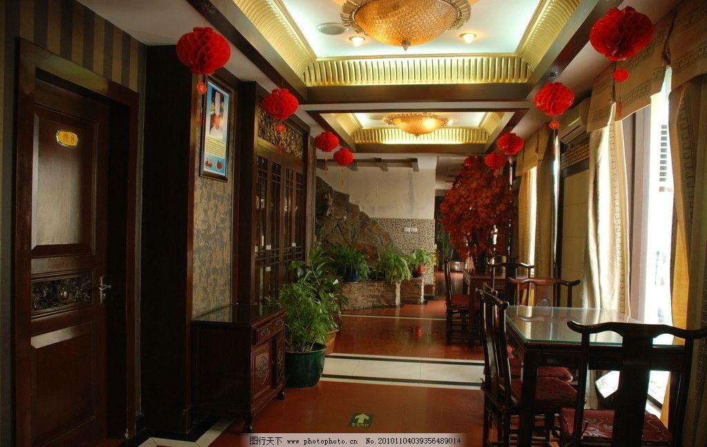 餐廳走廊 效果圖 餐飲酒店 餐廳走廊設計 裝飾 環境 中國風 室內攝影