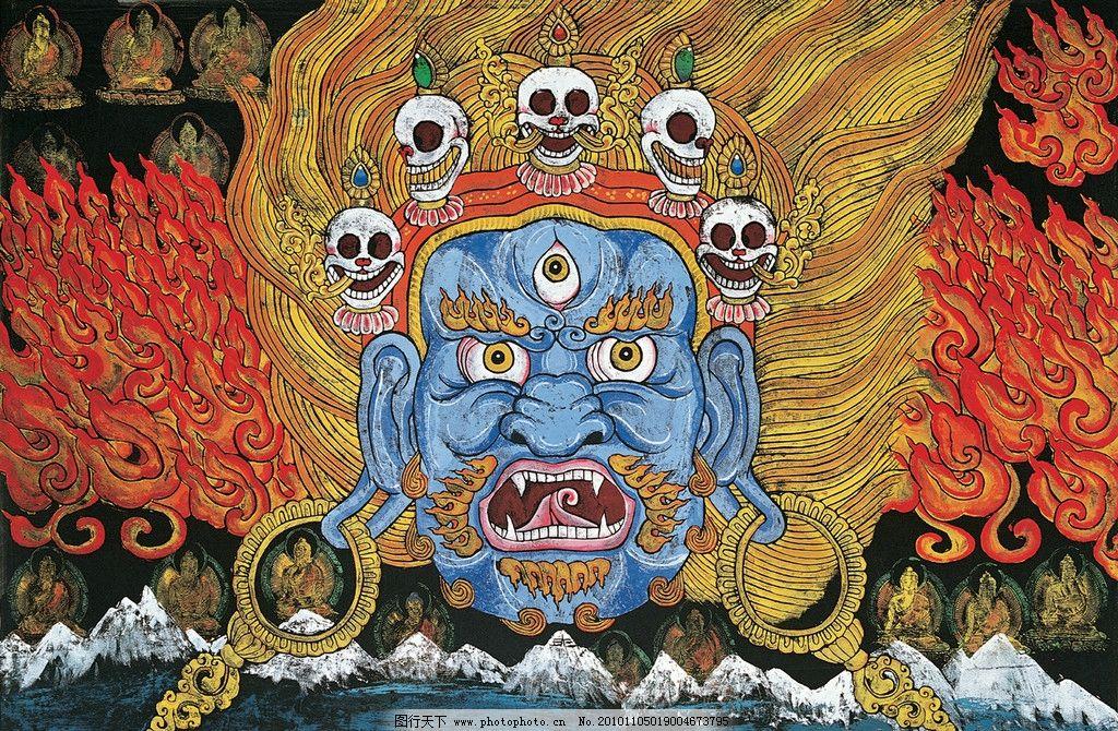 金刚 绘画 民族文化 装饰画 艺术 版画 藏族版画 绘画书法 文化艺术