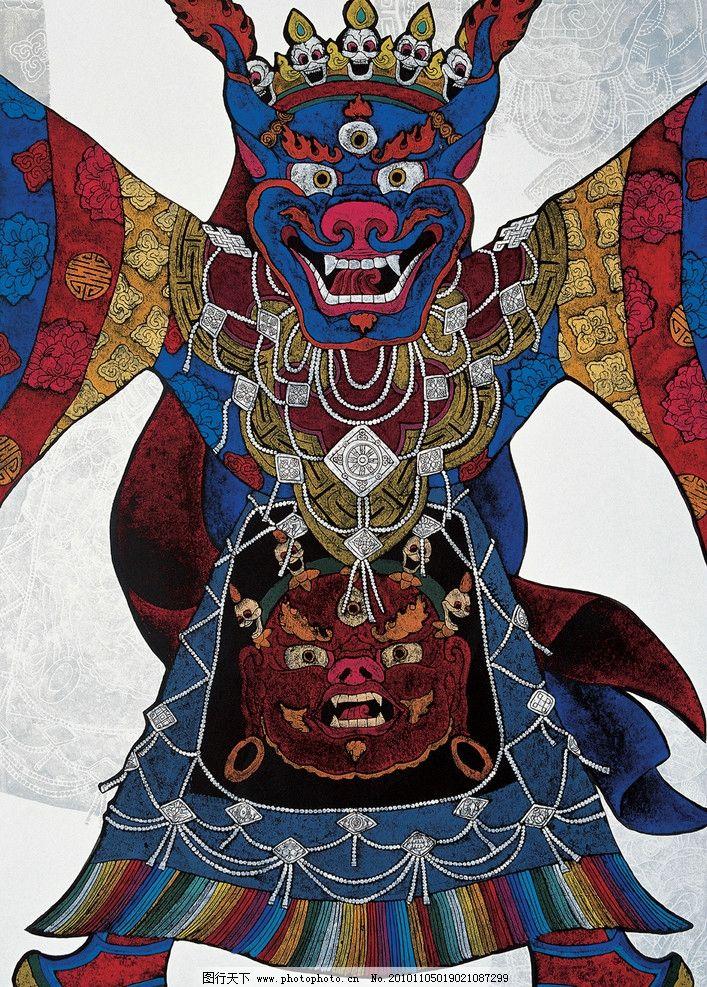 羌姆 绘画 民族文化 装饰画 艺术 版画 藏族版画 绘画书法 文化艺术图片