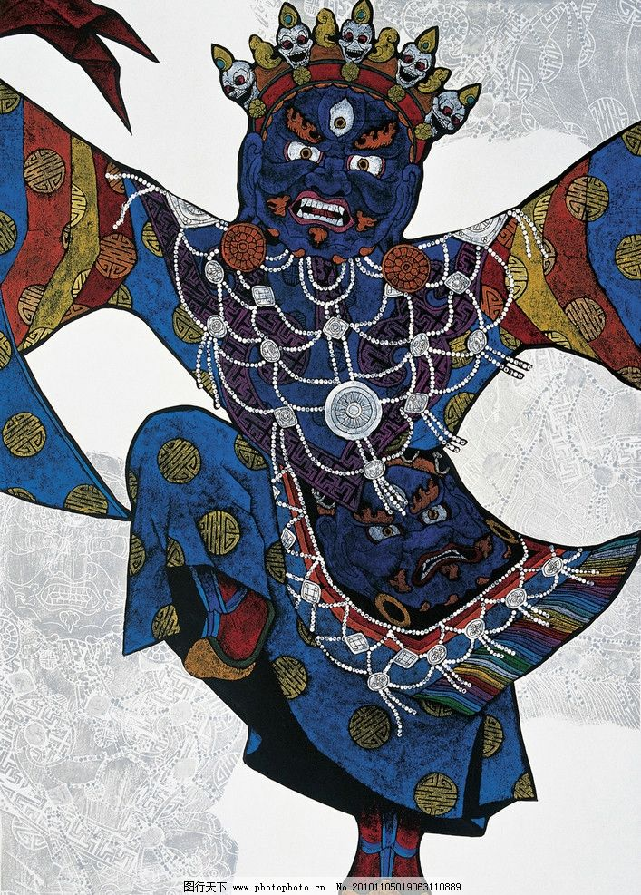 羌姆 绘画 民族文化 装饰画 艺术 版画 藏族版画 绘画书法 文化艺术