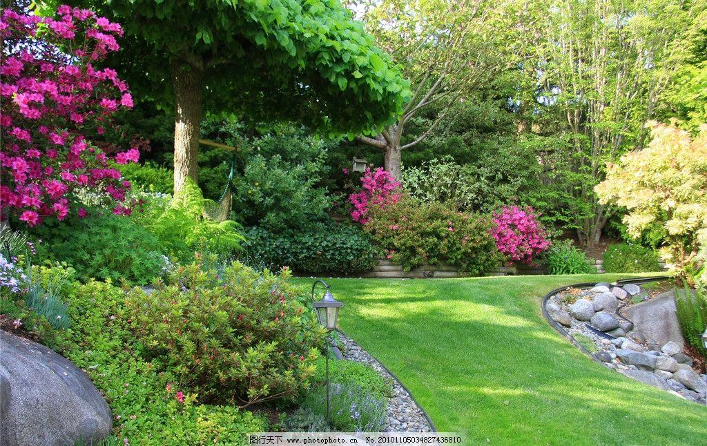 公园 园林 花园 草地 花朵 花卉 绿色 绿地 树木 绿化 摄影
