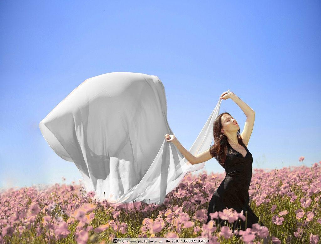 花朵性感美女女人,连体模特飘带大全图片时花海高清花丛性感内衣图片图片
