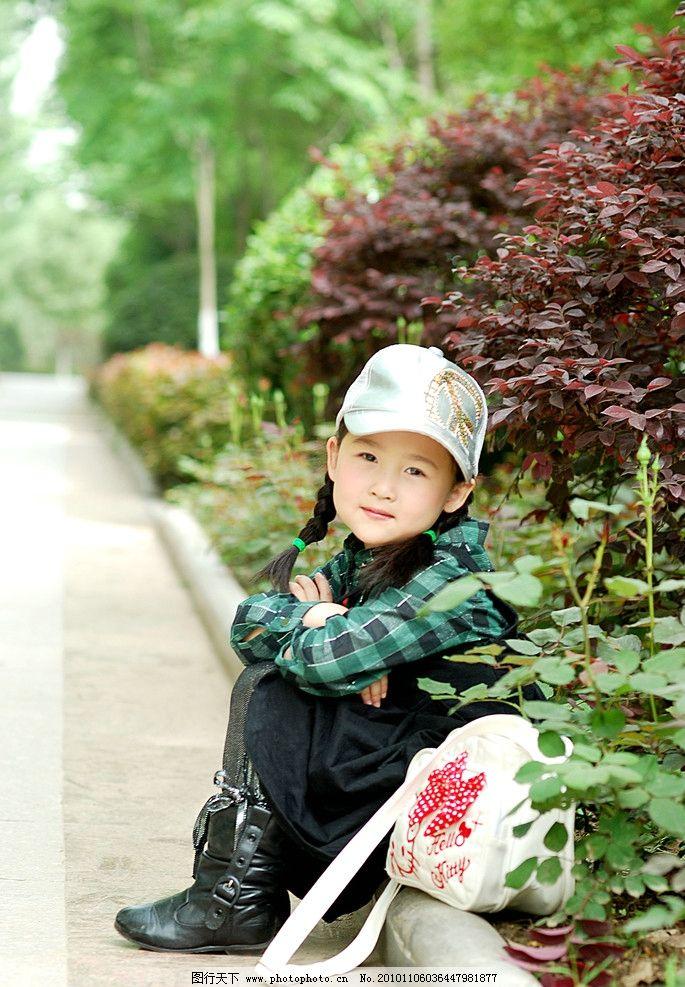 田园小女孩 儿童 幼儿 可爱 自然 美丽 田园 儿童幼儿 人物图库 摄影