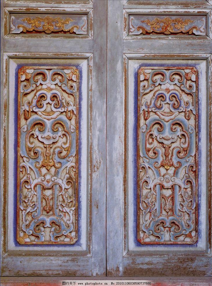 木雕 古雕艺术 传统木雕彩绘艺术