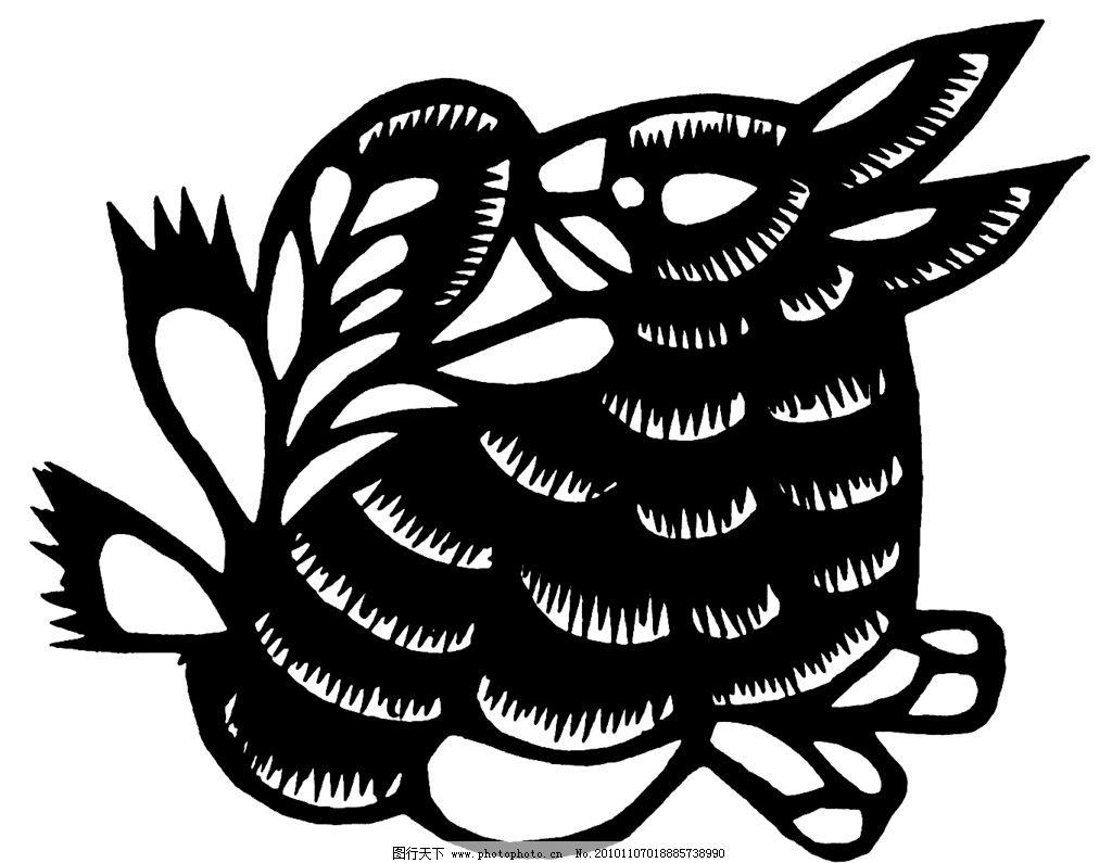 兔子图片,剪纸兔子 大耳兔-图行天下图库