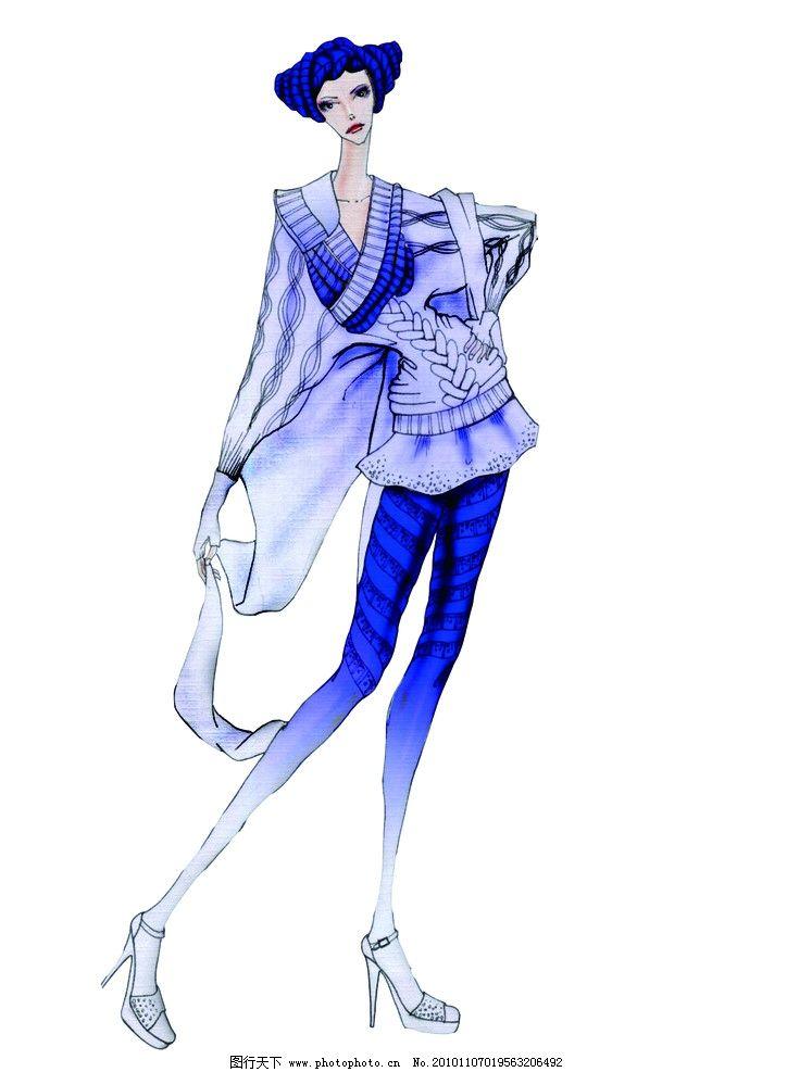 服装效果图 电脑服装设计 服装色彩搭配
