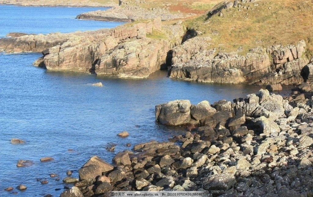 湖边孤岛 旅游摄影 风景 风光 湖水 石块 畸形怪石 河水 水中石块