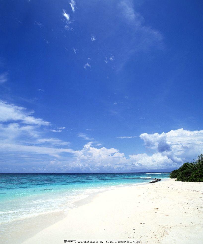 自然风光 蓝色海水 波浪 蓝天白云 海滩 沙滩 海边 海洋 海水 海浪