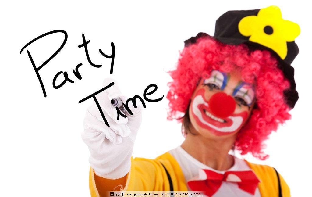 可爱小丑 马戏团海报图片