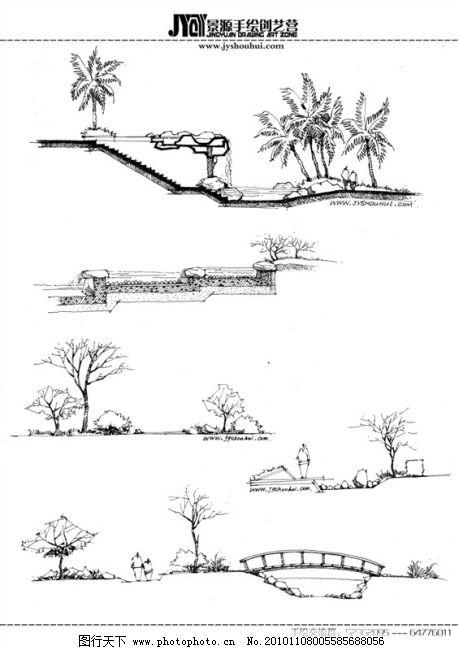 建筑景观手绘免费下载 建筑 建筑配景 手绘 手绘风景 建筑 建筑配景