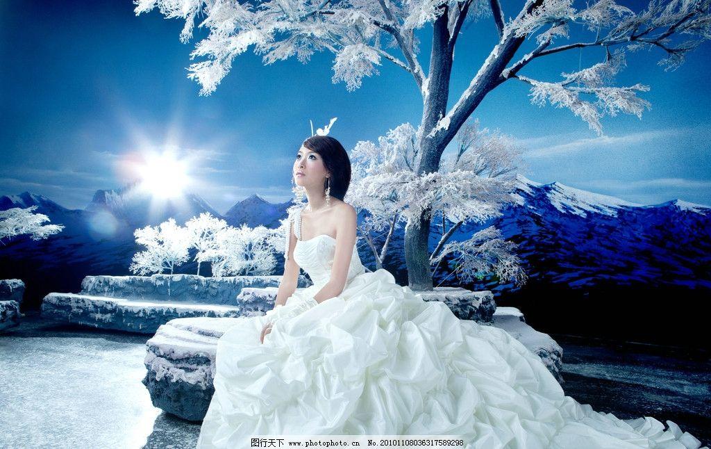 婚纱照 婚纱 婚纱摄影 冬季 礼服 美女 帅哥 人物摄影 人物图库 摄影