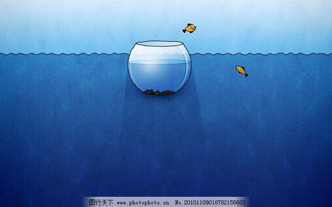 动漫 蓝色 苹果 鱼缸 苹果 鱼缸 蓝色 动漫 图片素材 卡通动漫可爱