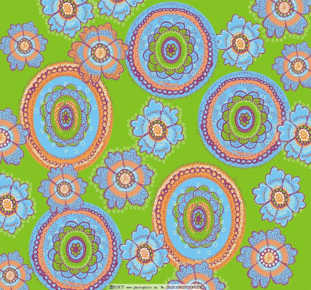 花圈 花 圈圈 矢量花纹 底纹 大花图案 花纹壁纸 底纹背景 底纹边框