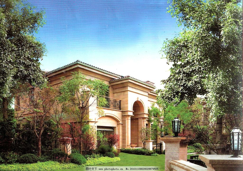花园设计图 别墅效果图 别墅 花园 花园别墅 建筑 3d效果图 商品房