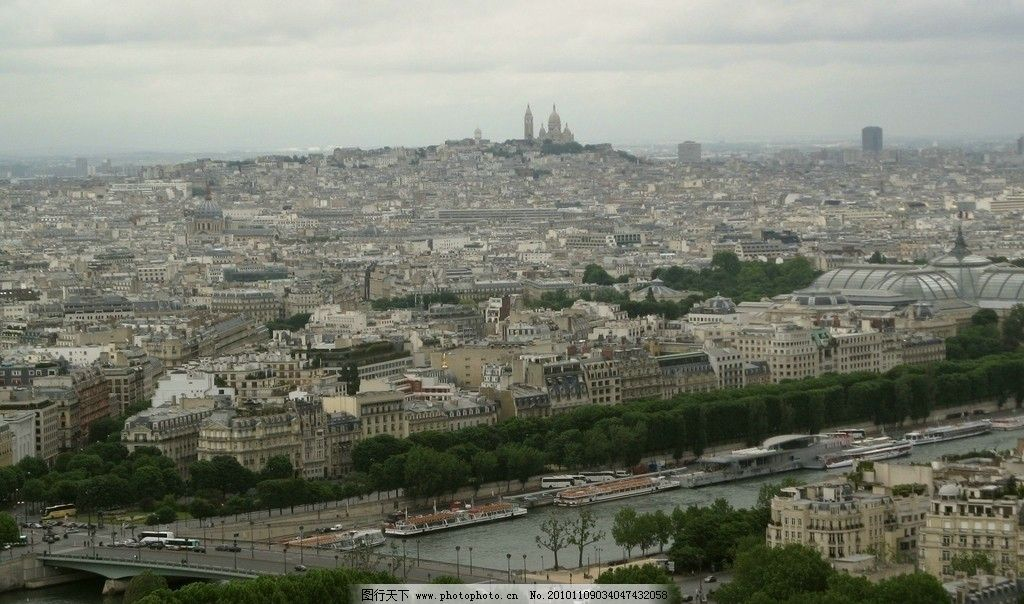 巴黎/巴黎俯瞰巴黎城市美景图片