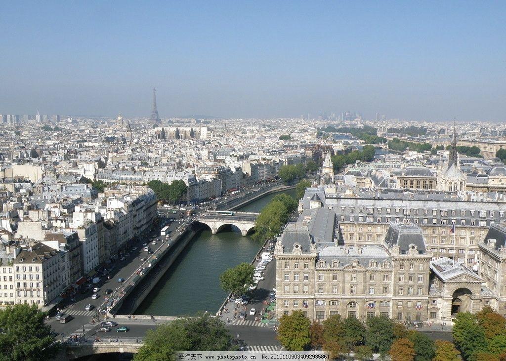 巴黎 俯瞰 巴黎城市美景图片