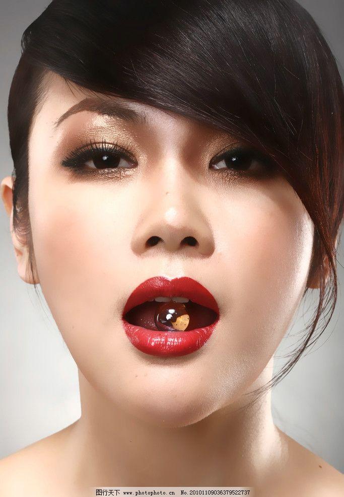 盈滢 口红广告 彩妆造型 美女 明星 化妆品广告 美女头像 人物资料图
