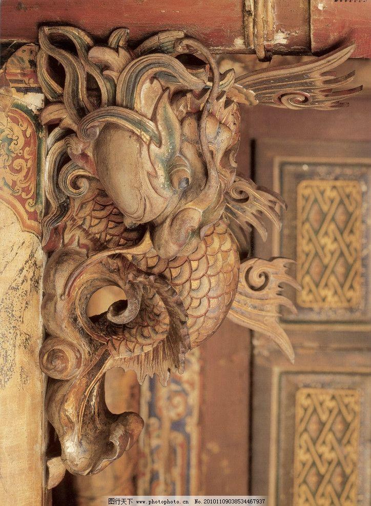 传统 木雕 龙纹 龙木雕 雕梁画栋 传统工艺 古代木雕 吉祥图案 广告人