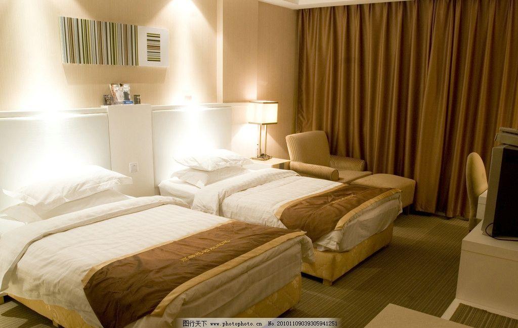 宾馆酒店房间 宾馆酒店标准间 宾馆客房 家庭宾馆 酒店室内装修素材