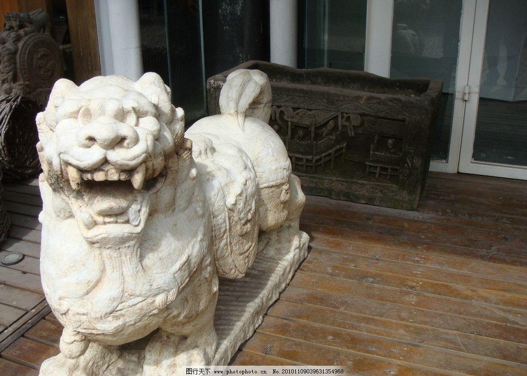 石狮子 雕塑图片