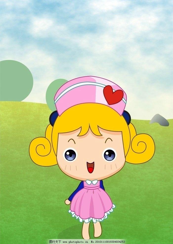 大头妹绘制 大头妹 卡通图片 可爱 动漫人物 动漫动画 设计 300dpi