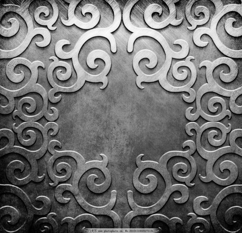 花纹 花边 金色 金属 钢板 金属板 布纹 欧式 底纹 边框 复古 时尚 传