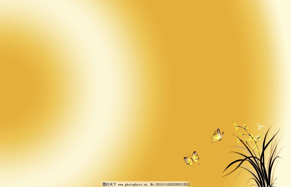 背景底图 兰花 蝴蝶 背景底纹 底纹边框