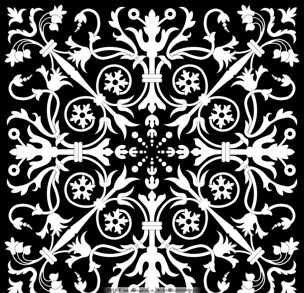 图案 黑白 欧洲图案 花边花纹 底纹边框 设计 150dpi jpg