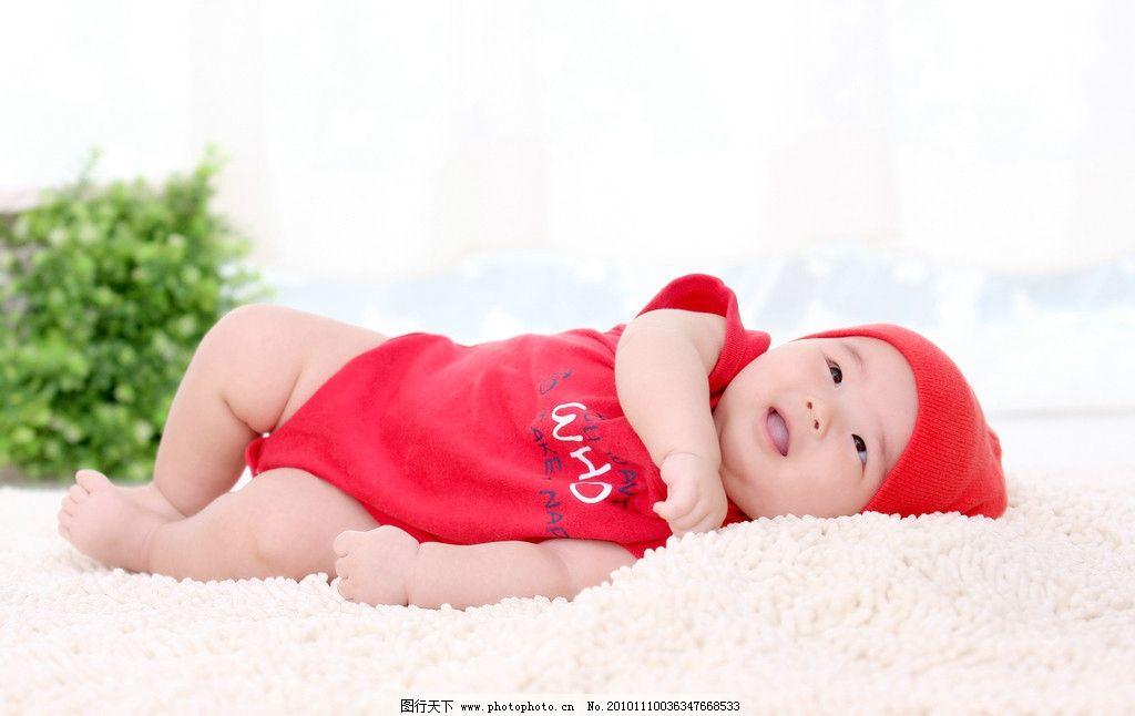 宝宝照 满月 百天 红色 小红帽 可爱 宝宝 宝贝 可爱宝贝 绿色     毛