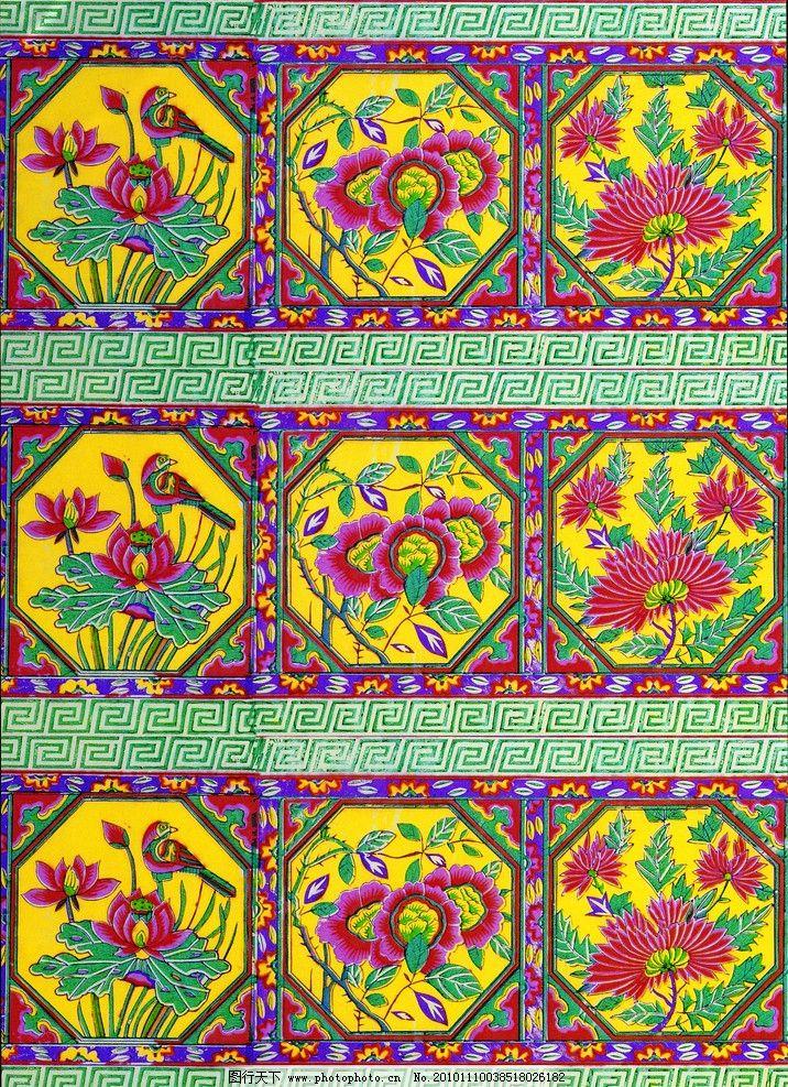 传统 绣花 艺术 古代 彩绣 花纹 花边 荷花 月季 菊花 吉祥图案 广告